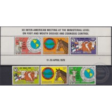 F-EX19585 NEDERLAND ANTILLES MNH 1979 FOOT ZOONOSIS CONTROL HORSE CAO BULL