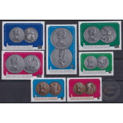 F-EX21823 COOK IS MNH 1973 NEW COINS SET