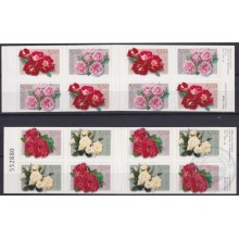 F-EX21698 NORGE NORWAY MNH 2001 BOOKLED FLOWER ROSE FLORES