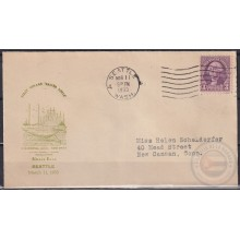 F-EX21416 US SEATTLE 1933 FIRST VOYAGE SANTA LUCIA SHIP GRACE LINE.