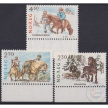 F-EX22318 NORWAY NORGE NOREG MNH 1987 HORSE CABALLOS EQUINOS.