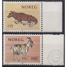 F-EX22317 NORWAY NORGE NOREG MNH 1981 ANIMALS CAO BULL GOAT.