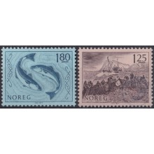 F-EX22325 NORWAY NORGE NORED MNH 1977 SEA MARINE WILDLIFE FISH PECES.
