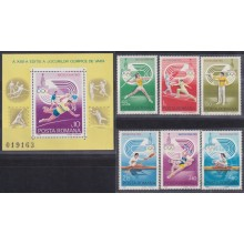 F-EX23002 RUMANIA MNH 1980 OLYMPIC GAMES MOSCOW RUSSIA ATHLETISM FIGHTING.