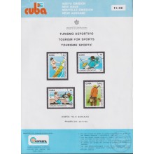 PRP-250 CUBA 1990 LG2050 NEW ISSUE FLYER PROMO. TURISMO DEPORTIVO TOURISM & SPORT FISHING SURF.