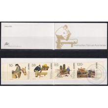 F-EX23253 PORTUGAL AZORES MNH 1992 BOOKLED FOLKLORE SHIP BARCOS.