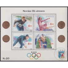 F-EX24876 NORWAY NORGE NOREG MNH 1990 WINTER OLYMPIC GAMES SKI
