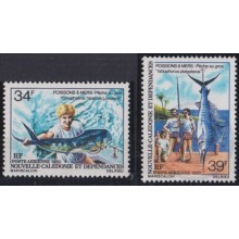 F-EX21028 NEW CALEDONIE NOUVELLE CALEDONIE MNH 1980 FISHING FISH PECES PESCA