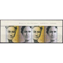 F-EX27132 ARGENTINA OFFICIAL MAIL 1999 MNH UPAEP GREAT WOMAN.