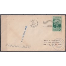 F-EX21394 US PAQUEBOT 1954 POSTED HIGHT SEAS IN PHILIPPINES SS PIONER WAVE