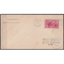 F-EX21395 US PAQUEBOT 1954 POSTED HIGHT SEAS IN PHILIPPINES SS PHILIPPINE TRANSPORT