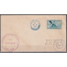 F-EX21396 US PAQUEBOT 1953 POSTED HIGHT SEAS IN DJIBOUTI SOMALIA SS EXCHEQUER
