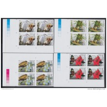2011.108 CUBA 2011 MNH IMPERFORATED PROOF BLOCK 4. COMPLETE SET. FLORES Y FAUNA. RANA. FROG. SNAIL. LIGUS. ARDEA. MARIPO
