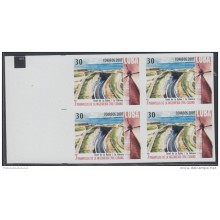 2007.151 CUBA 2007 MNH IMPERFORATED PROOF BLOCK 4. 7 MARAVILLAS INGENIERIA CIVIL. 7 MARVELS OF ENGINEERING. TUNEL BAY. T
