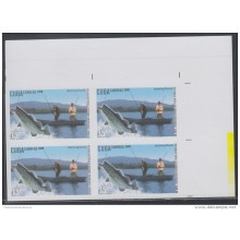 2009.122 CUBA 2009 MNH IMPERFORATED PROOF BLOCK 4. PESCA DEPORTIVA. RIVER FISHING. FISH. PECES.