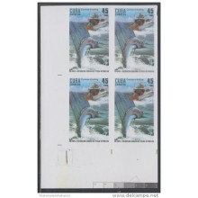 2009.123 CUBA 2009 MNH IMPERFORATED PROOF BLOCK 4. PESCA DEPORTIVA. CURRICAN FISHING. FISH. PECES. AGUJA. MARLIN.