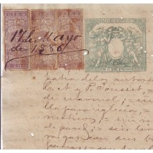 BD8819 CUBA ESPAÑA SPAIN GIROS REVENUE USE ON SEALLED PAPER