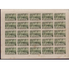 1936 BD8958 CUBA 1936 ZONA FRANCA MINI-SHEET AIR 4 VIEN 20c