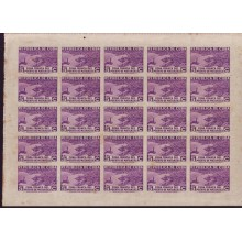 1936 BD8959 CUBA 1936 ZONA FRANCA MINI-SHEET AIR 4 VIEN 5c VERY RARE