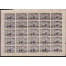 1936 BD8961 CUBA 1936 ZONA FRANCA MINI-SHEET 50c SHIP