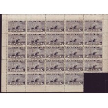 1936 BD8965 CUBA 1936 ZONA FRANCA MINI-SHEET PERF 50c SHIP