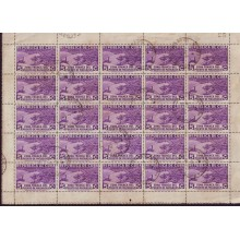 1936 BD8973 CUBA 1936 ZONA FRANCA MINI-SHEET 5c CANCEL AIR