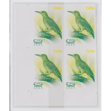2009.174 CUBA 2008 MNH IMPERFORATED PROOF WITHOUT COLOR. BLOCK 4. BIRD. AVES. PAJAROS. TURNAT