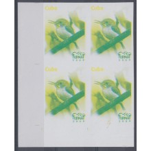 2009.175 CUBA 2008 MNH IMPERFORATED PROOF WITHOUT COLOR. BLOCK 4. BIRD. AVES. PAJAROS. TURNAT