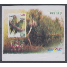 2009.177 CUBA 2008 MNH IMPERFORATED PROOF. DOUBLE ENGRAVING. SPECIAL SHEET. BIRD. AVES. PAJAROS. TURNAT