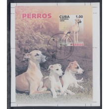 2006.183 CUBA 2006 USED IMPERFORATED PROOF SPECIAL SHEET. PERROS. DOG. WHIPPET.