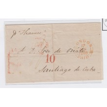 "PREFI-243 *. CUBA SPAIN ESPAÑA. STAMPLESS. 1848. CARTA LONDON TO HAVANA. UK. SHIP ""THAMES"". TASADA ""10"" rs."