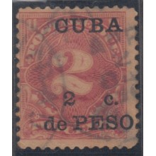 "1899-79 CUBA. US. INTERVENCION AMERICANA. 1899. Ed.2. 2c. ERROR ""SIN PUNTO"" DESPUES DE PESO. WITHOUT AFTER ERROR."