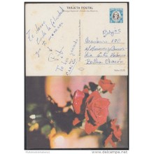 1978-EP-3 CUBA 1978. Ed.122a. POSTAL STATIONERY. MOTHER DAY SPECIAL DELIVERY. CARTULINA MATE. ROSAS. ROSE. FLOWERS. FLOR