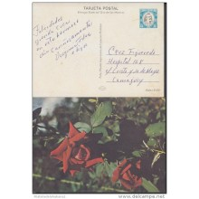 1978-EP-7 CUBA 1978. Ed.122b. MOTHER DAY SPECIAL DELIVERY. CARTULINA MATE. ROSAS. ROSE. FLOWERS. FLORES. USED.