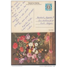 1979-EP-16 CUBA 1979. Ed.123c. MOTHER DAY SPECIAL DELIVERY. POSTAL STATIONERY. JARRA DE FLORES. FLOWERS. USED..