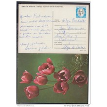 1986-EP-14 CUBA 1986. Ed.139b. MOTHER DAY SPECIAL DELIVERY. ENTERO POSTAL. POSTAL STATIONERY. TULIPANES. FLOWERS. FLORES