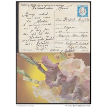 1987-EP-12 CUBA 1987. Ed.143. MOTHER DAY SPECIAL DELIVERY. POSTAL STATIONERY. FLORES. FLOWERS. USED.