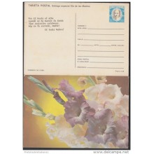 1987-EP-13 CUBA 1987. Ed.143. MOTHER DAY SPECIAL DELIVERY. POSTAL STATIONERY. FLORES. FLOWERS. VERSO: INDIO NABORI. UNUS