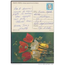 1989-EP-11 CUBA 1989. Ed.145h. MOTHER DAY SPECIAL DELIVERY. ENTERO POSTAL. POSTAL STATIONERY. TULIPANES. FLOWERS. FLORES