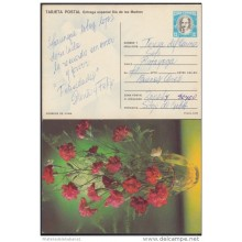 1990-EP-3 CUBA 1990. Ed.147f. MOTHER DAY SPECIAL DELIVERY. ENTERO POSTAL. POSTAL STATIONERY. FLOWERS. FLORES. USED.