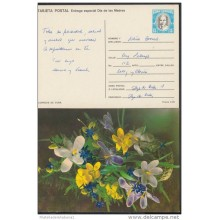 1990-EP-17 CUBA 1990. Ed.147i. MOTHER DAY SPECIAL DELIVERY. ENTERO POSTAL. POSTAL STATIONERY. FLOWERS. FLORES. USED.