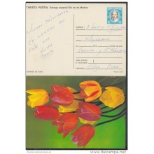 1990-EP-19 CUBA 1990. Ed.147e. MOTHER DAY SPECIAL DELIVERY. ENTERO POSTAL. POSTAL STATIONERY. TULIPANES. FLOWERS. FLORES