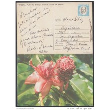 1990-EP-22 CUBA 1990. Ed.148b. MOTHER DAY SPECIAL DELIVERY. POSTAL STATIONERY. CARTULINA CON BRILLO. FLOWERS. FLORES. US