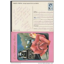 1991-EP-3 CUBA 1991. Ed.149c. MOTHER DAY SPECIAL DELIVERY. POSTAL STATIONERY. ROSAS Y PERFUMES. ROSES. FLOWERS. FLORES.