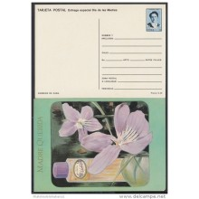 1991-EP-10 CUBA 1991. Ed.149a. MOTHER DAY SPECIAL DELIVERY. POSTAL STATIONERY. FLORES Y PERFUMES. FLOWERS. UNUSED.