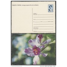 1991-EP-27 CUBA 1991. Ed.149h. MOTHER DAY SPECIAL DELIVERY. POSTAL STATIONERY. ERROR DE CORTE. FLORES. FLOWERS. UNUSED.
