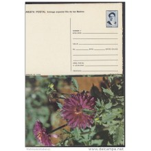 1991-EP-28 CUBA 1991. Ed.149g. MOTHER DAY SPECIAL DELIVERY. POSTAL STATIONERY. ERROR DE CORTE. FLORES. FLOWERS. UNUSED.
