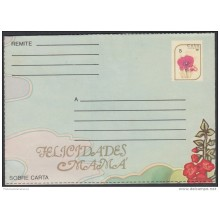 1988-EP-21 CUBA 1988. Ed.205. POSTAL STATIONERY. MOTHER DAY SPECIAL DELIVERY. FLORES. FLOWERS. FELICIDADES MAMA. UNUSED
