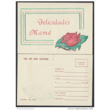1992-EP-1 CUBA 1992. Ed.AP10. MOTHER DAY SPECIAL DELIVERY. POSTAL STATIONERY. PERIODO ESPECIAL. ROSAS. ROSE. FLOWERS. FL