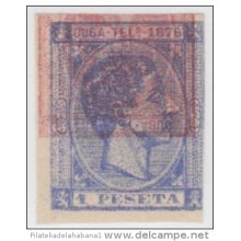 1876-28 CUBA. SPAIN. ESPAÑA. TELEGRAFOS. TELEGRAPH. ALFONSO XII. Ed.35. 1876. IMPERFORATED PROOF. DOUBLE ENGRAVING